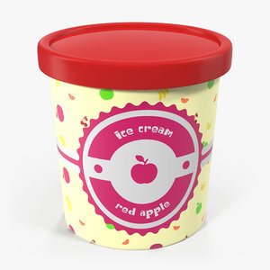 3ds ice cream pint tub