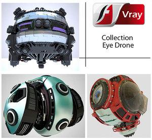 3d model drone eye