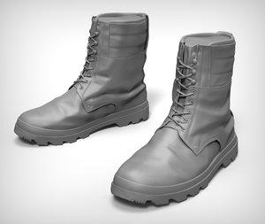 combat boots obj