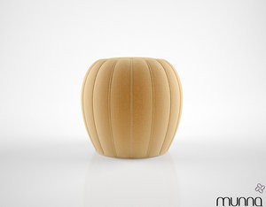 3d model munna mellow ottoman
