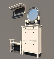 bench cabinet ikea 3d 3ds