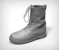 3d model combat boots 2