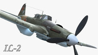 aircraft il 2 soviet 3d model