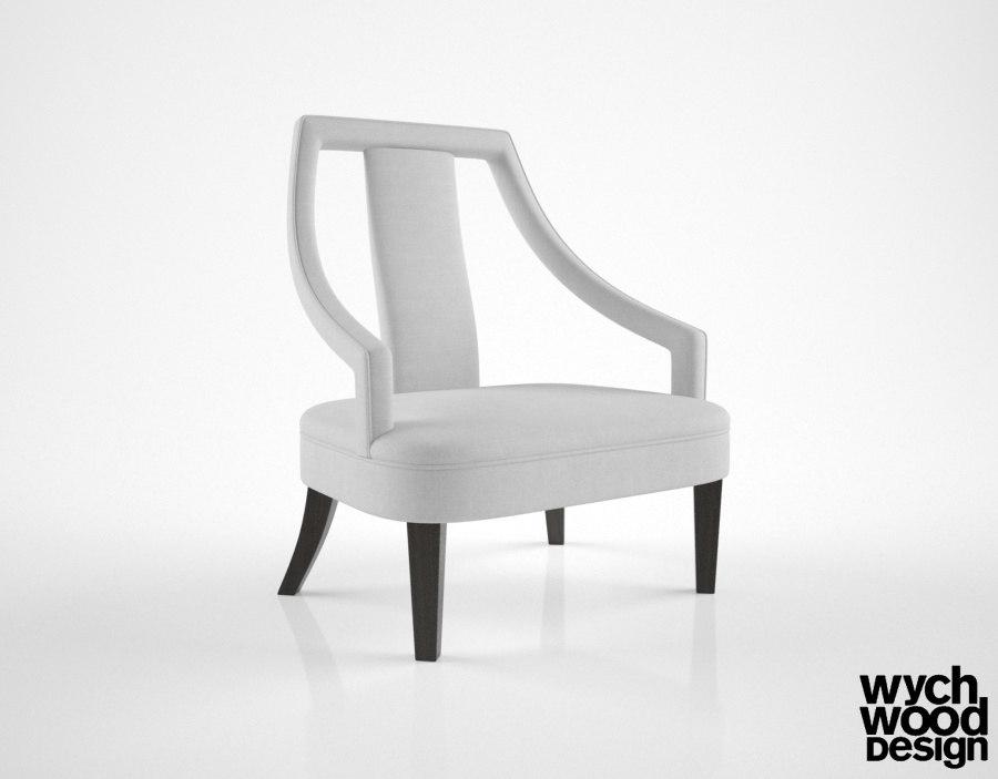 wychwood design ac816 armchair 3d model