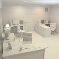 3d office interior