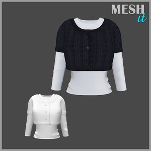 3d model sweater shirt