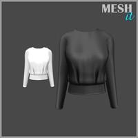 3d sweatshirt black