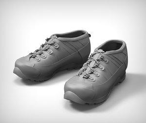 combat boots 3 3d model