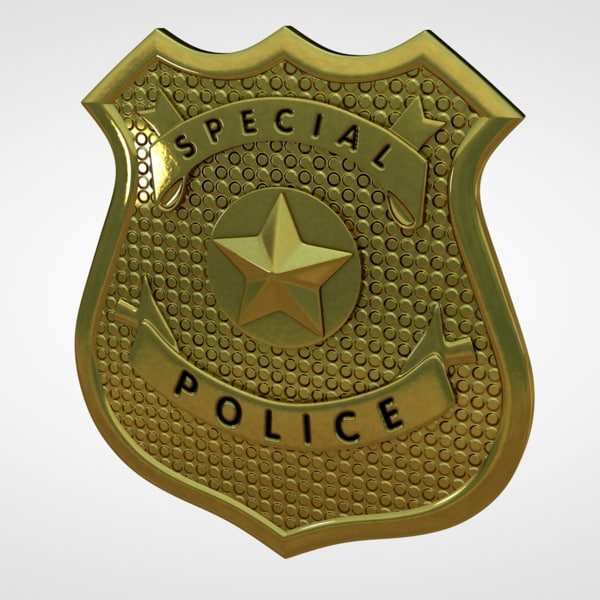 c4d police badge