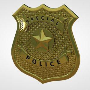 c4d police badge