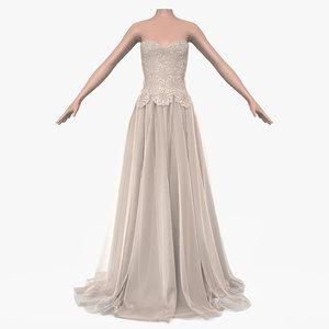 dress female 3d model