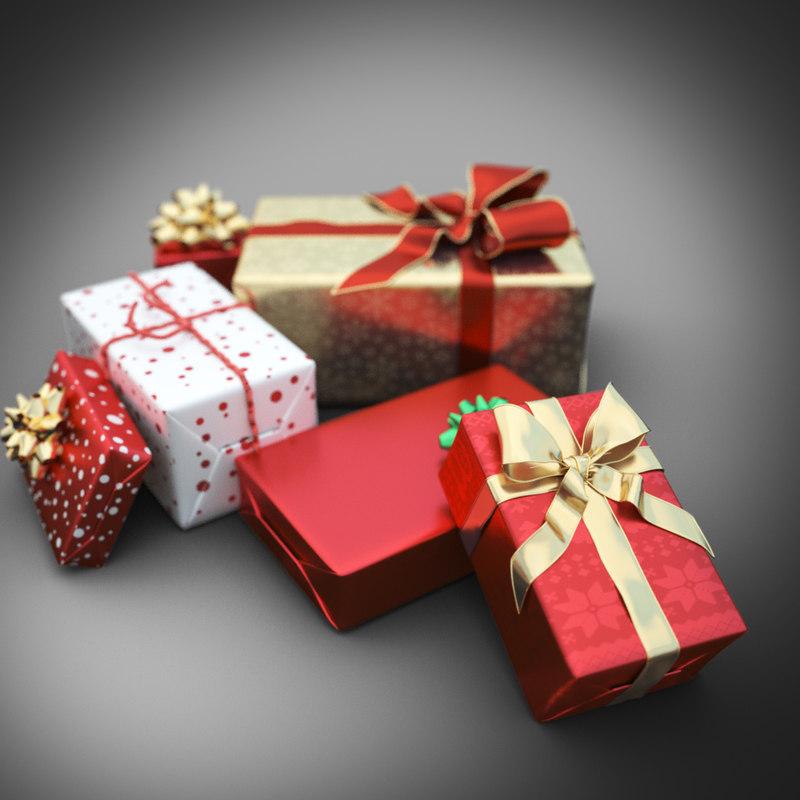 christmas gift set 3d 3ds