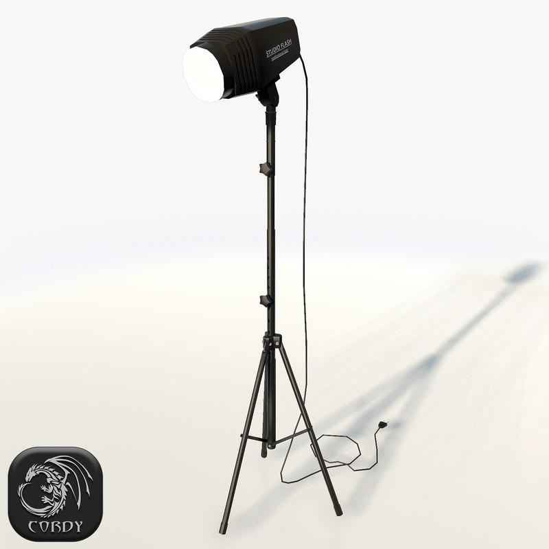3ds realistic studio flash photo