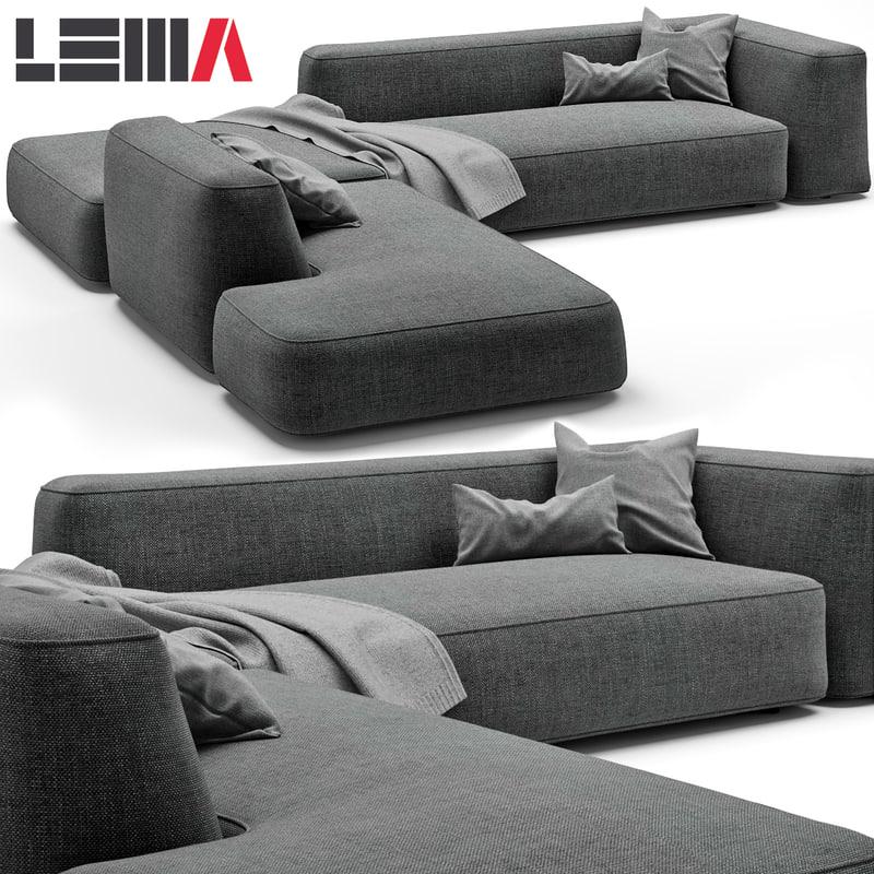 3d lemamobili cloud sofa