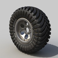 3d off-road wheel model