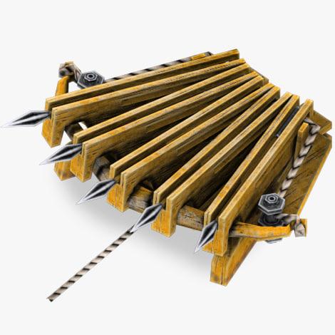 trap shoots arrows