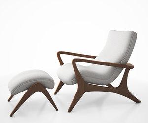 contour lounge chair 3d model