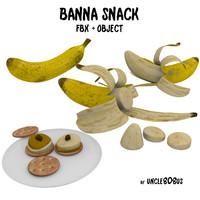 3d model banana snack