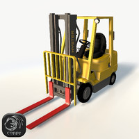Forklift Hyster 2.0 low poly