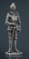 medieval knight statue 3 3d max