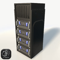 Server rack low poly