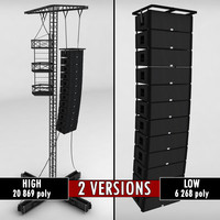 Speaker concert system scaffolding tower array