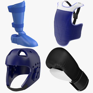 3d model of taekwondo equipment