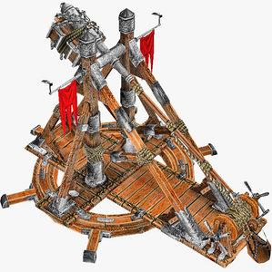 3d medievil trebuchet model