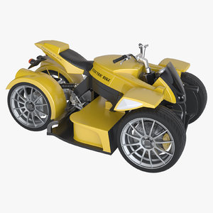 photoreal electric 4-wheel bike 3d model