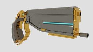 3d model lato prime pistol