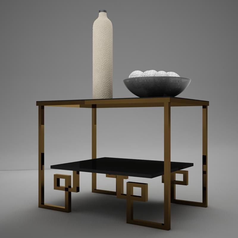 3d model of table mirror