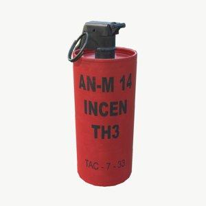 incendiary grenade 3d model