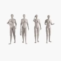 woman figure 3d max