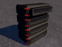 3d model futuristic cabinet