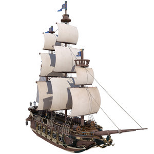 realistic ship 3d model