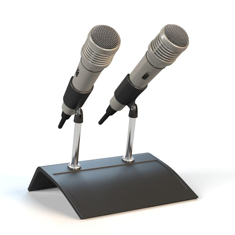 3d microphones model