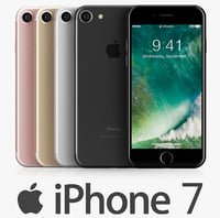 apple iphone 7 colors 3d model