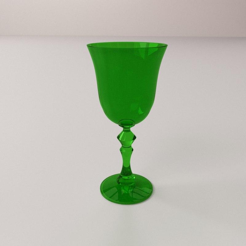 3d wine glass v3