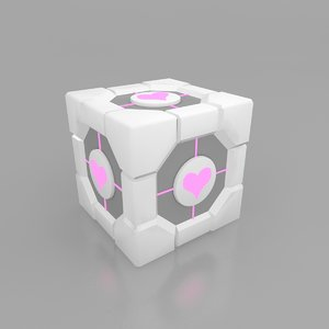 3d wedding companion cube