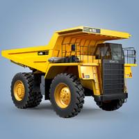 dump trucks komatsu hd785 3d model