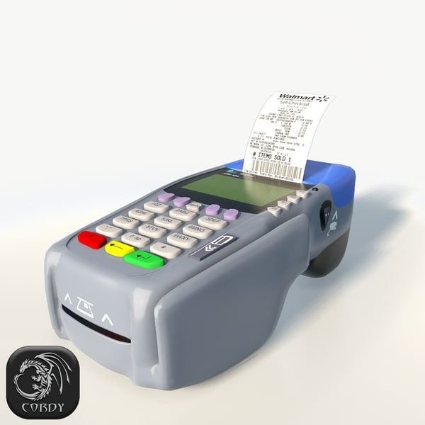 3d card reader terminal