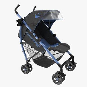 obj baby stroller blue