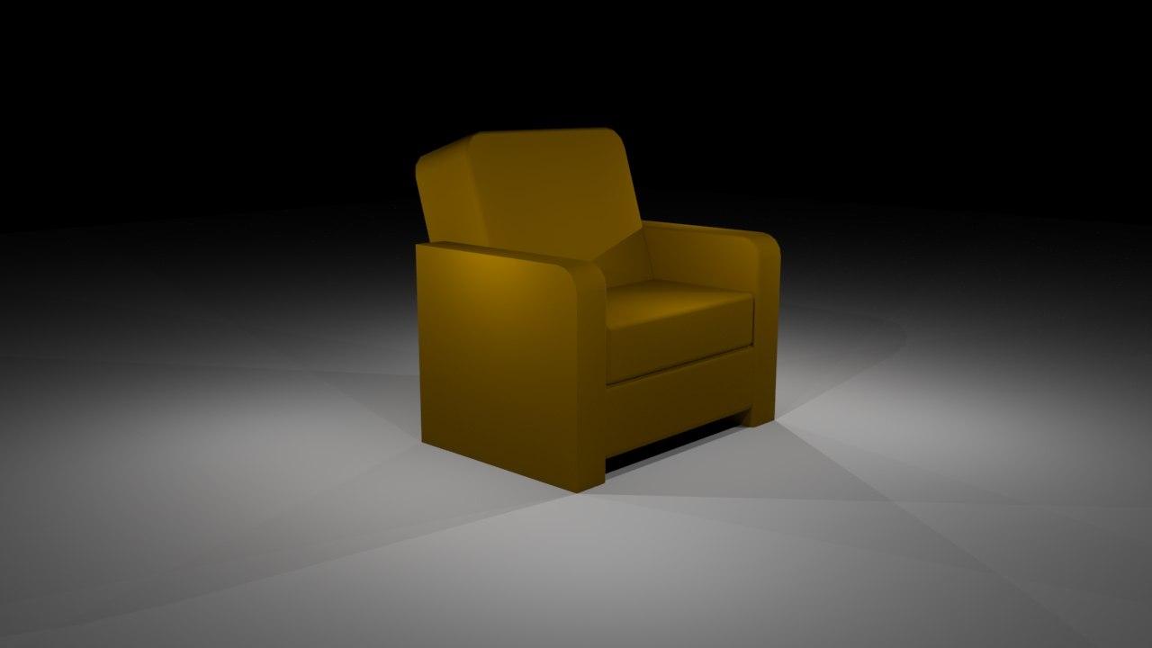 modern chair 3d fbx