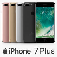 apple iphone 7 colors 3d max