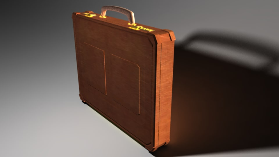 briefcase closed 3d obj