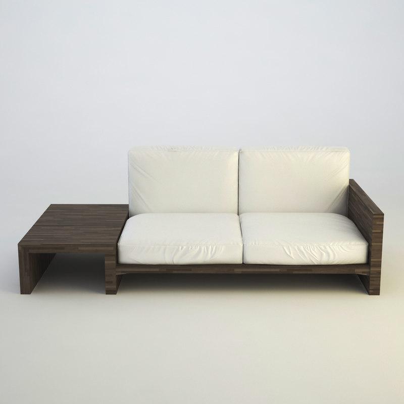 3d modern sofa model