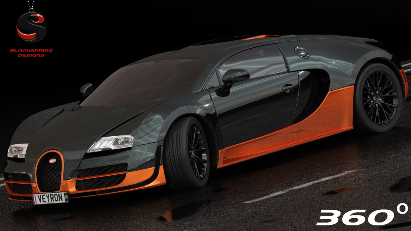 3d Model Bugatti Veyron Supersport 2010