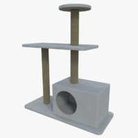 cat tree 3d obj