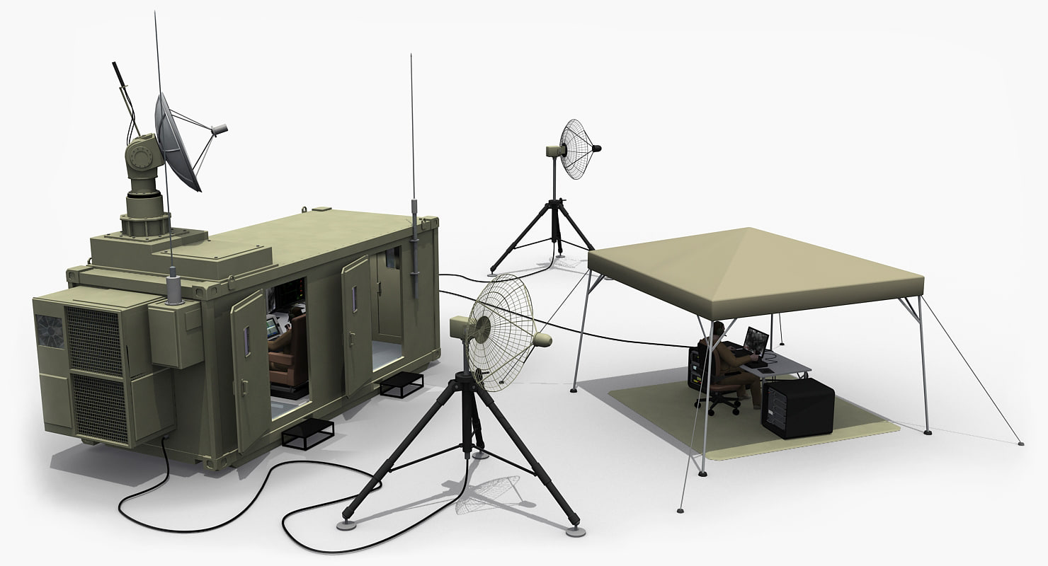 3d airbase uavs ground control model