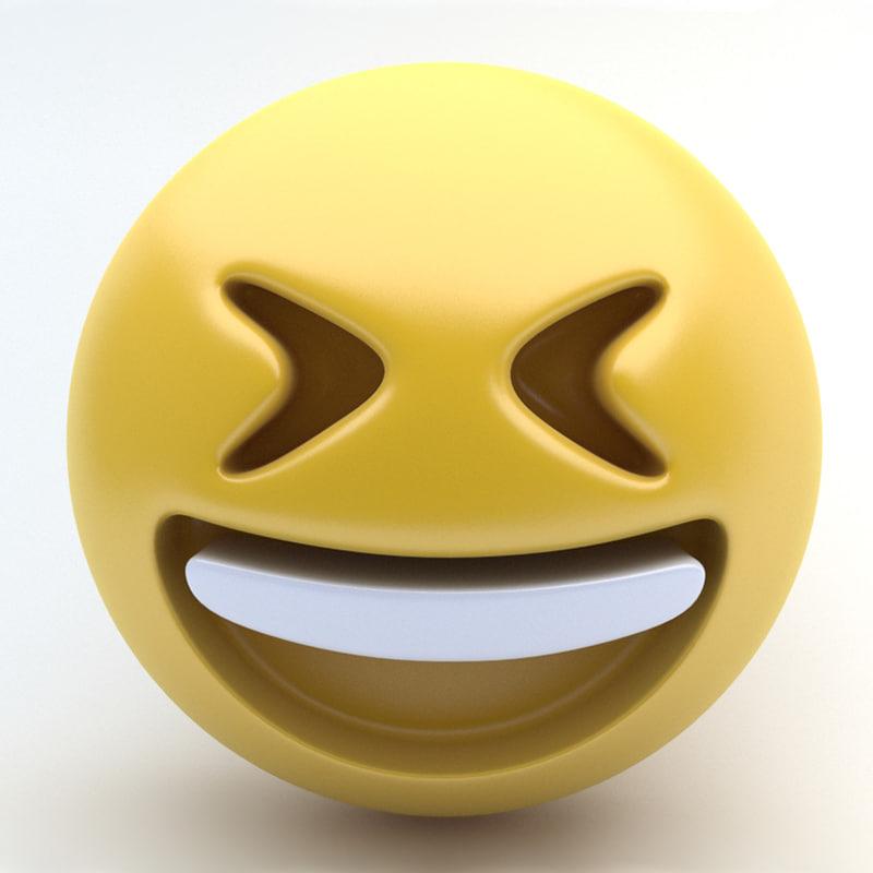 emoji lol 3d model